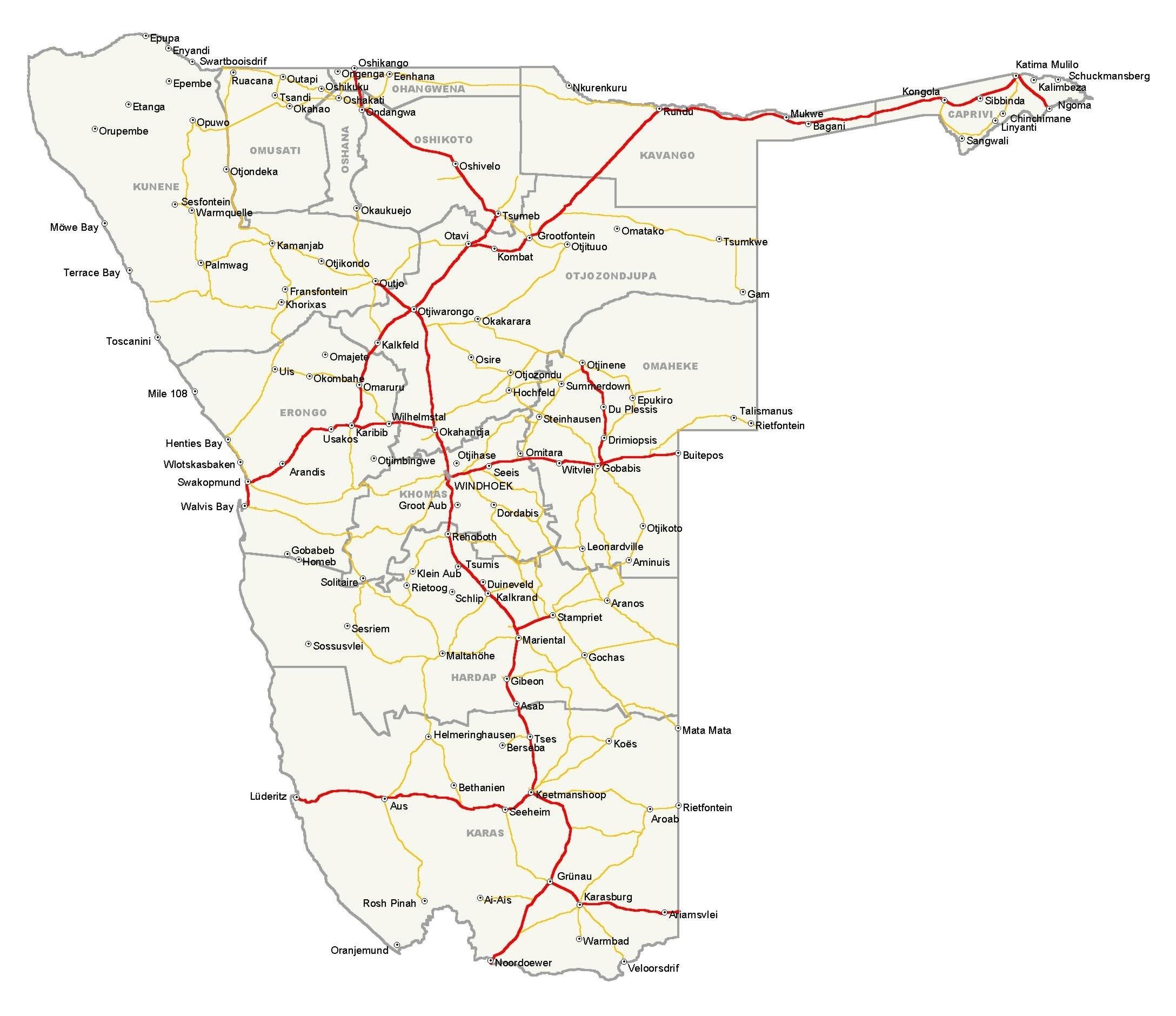 NamibiaFlag - Namibia map